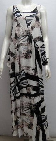 Brown Black Print Maxi s8